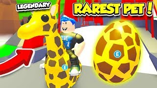 I ACTUALLY HATCHED THE RAREST LEGENDARY SAFARI PET IN ADOPT ME!! (Roblox)