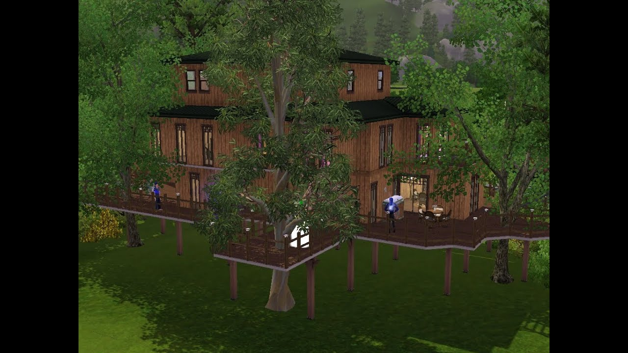 sims 3 haus bauen let 39 s build baumhaus f r die ganze familie youtube. Black Bedroom Furniture Sets. Home Design Ideas