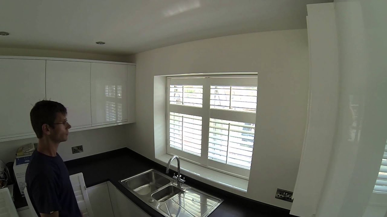 How To Fit Window Shutters On A Kitchen Window From Start To Finish    YouTube