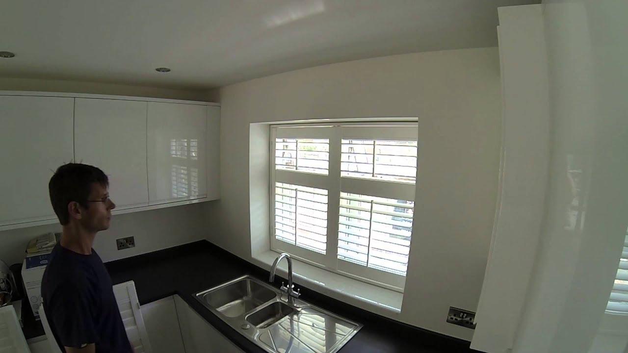 Installing window shutters - inside mount - kitchen window