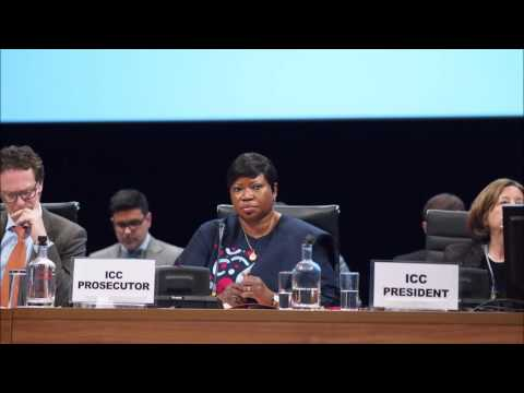 ICC Prosecutor: Investing in justice has greater returns in peace.