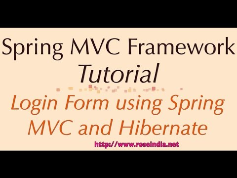 Spring 4: Login Form using Spring MVC and Hibernate Example
