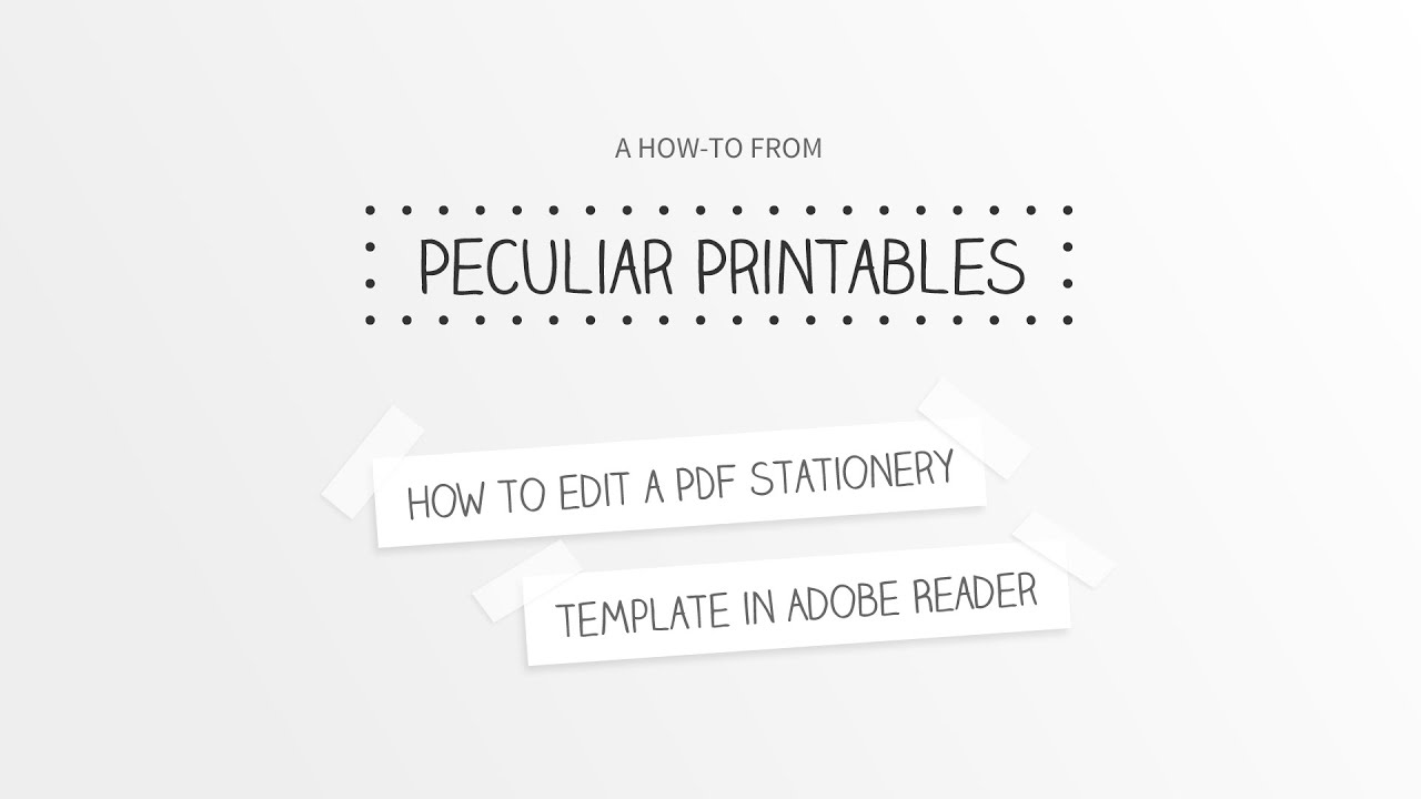 How To Edit A Pdf Stationery Template In Adobe Reader