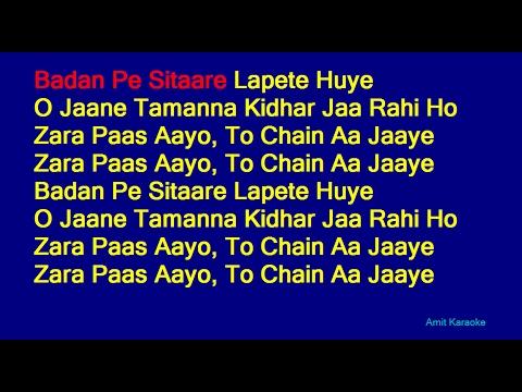 Badan Pe Sitaare Lapete Huye - Mohammed Rafi Hindi Full Karaoke with Lyrics