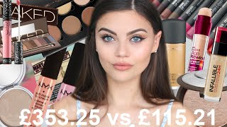 One of Emily Canham's most viewed videos: HALF HIGH END HALF DRUGSTORE FACE