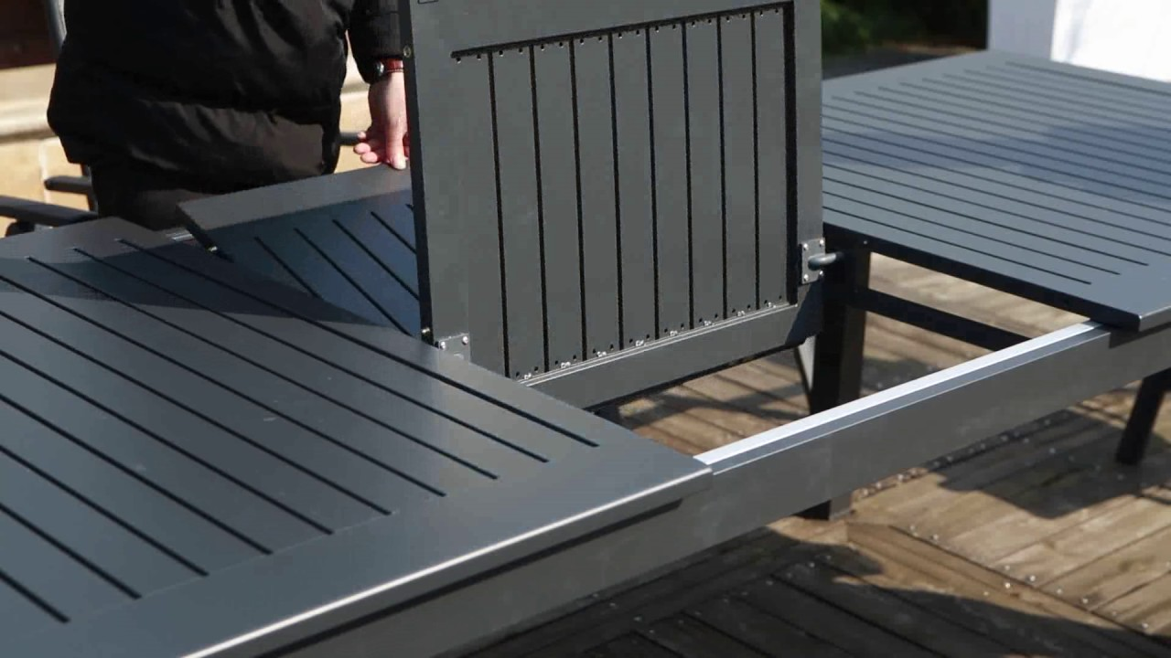 Table de jardin extensible Berana - Concept Usine - YouTube