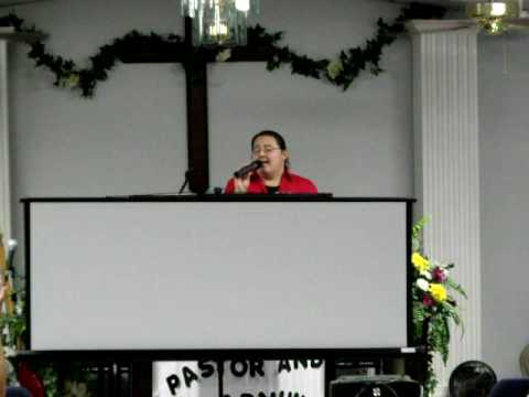 Jessica Crosby singing at Apostolic Lighthouse Tab...