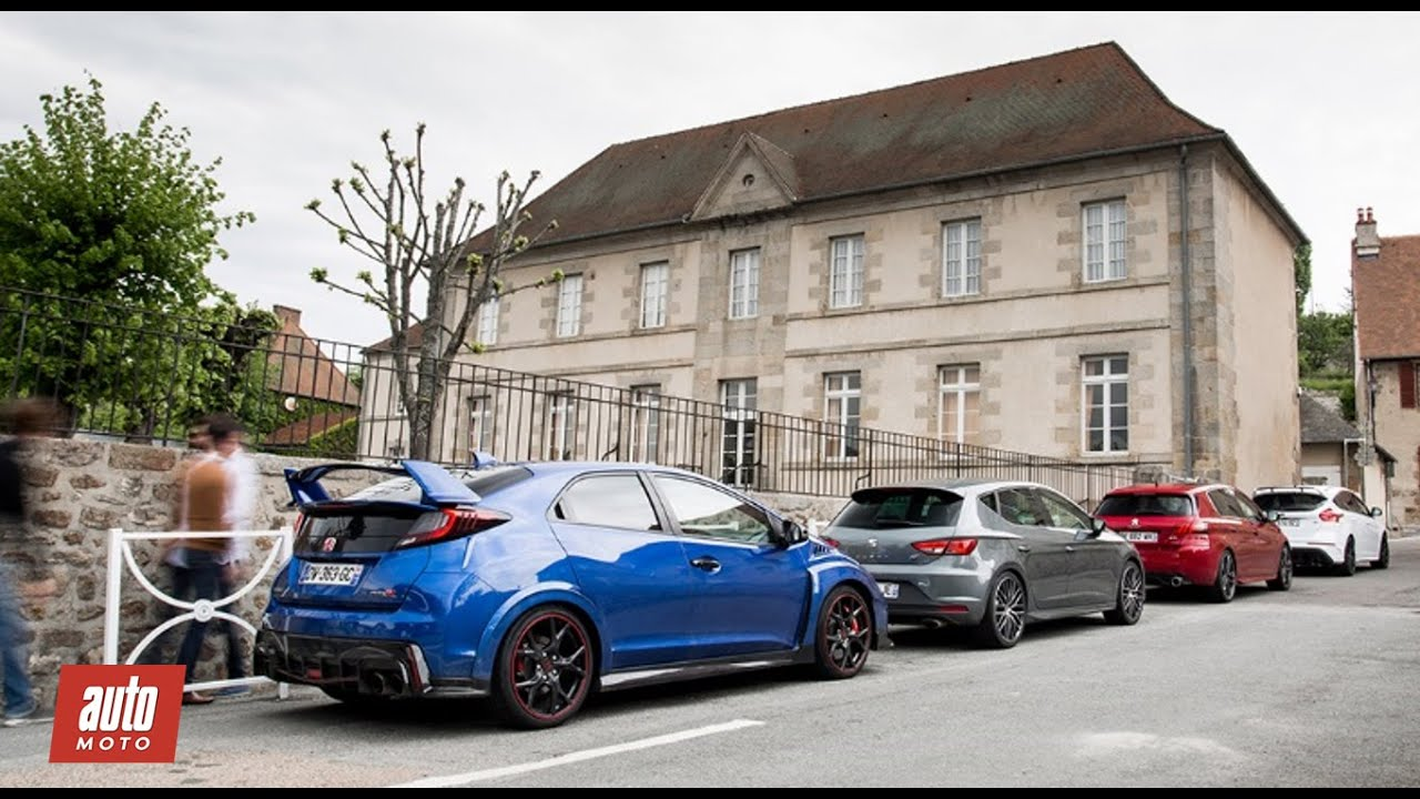 comparatif gti 2016 focus rs civic type r peugeot 308 gti leon cupra partie 2 2 youtube. Black Bedroom Furniture Sets. Home Design Ideas