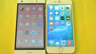 Huawei P8 Lite vs iPhone 6 iOS 9 - Apps Opening Speed Test HD
