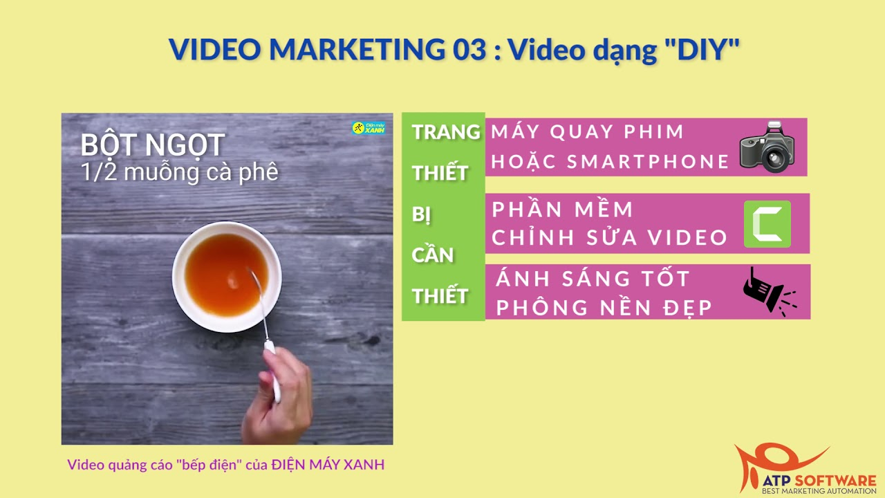"""Video Marketing 03 : Mẫu video dạng """"DIY"""""""