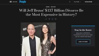 Jeff Bezos' 137 Billion Dollar Divorce | MGTOW and Redpill Philosophy