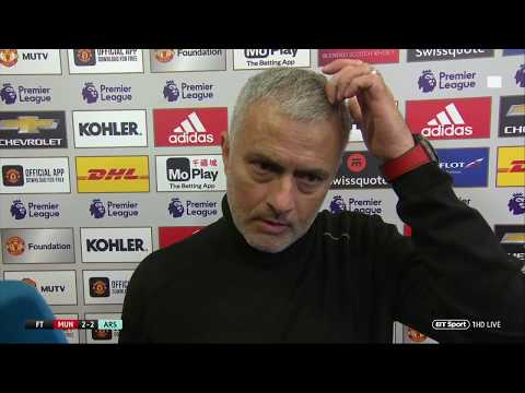 """There are things I cannot get from them"" Jose Mourinho is coy after Man Utd's 2-2 with Arsenal"