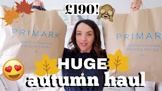 HUGE AUTUMN PRIMARK HAUL AND TRY ON! AUGUST 2019 | MAISY MEOW