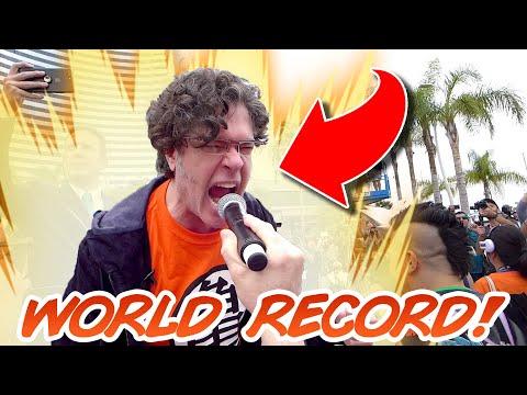 World Record KAMEHAMEHA with Sean Schemmel (Goku Voice Actor)