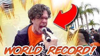 World Record KAMEHAMEHA with Sean Schemmel (Best view)