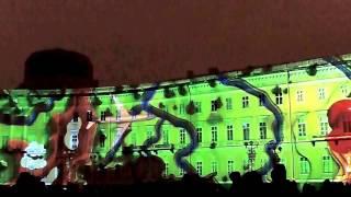 Световое шоу на Дворцовой площади 29 декабря 2016 года