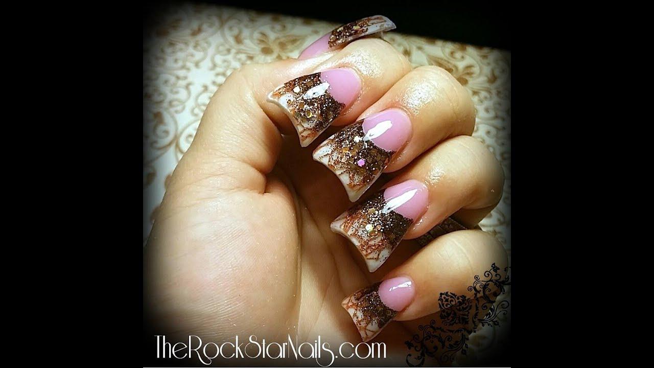 Acrylic nails tutorial - Fall nails - YouTube