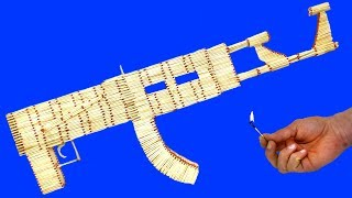 How To Make AK-47 From Matchsticks Then Burn it