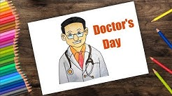 How to draw Doctors day    How to draw a Doctor