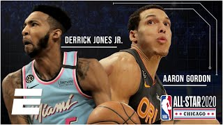 2020 NBA Slam Dunk Contest Highlights | Aaron Gordon dunks over Tacko Fall, Derrick Jones Jr. wins