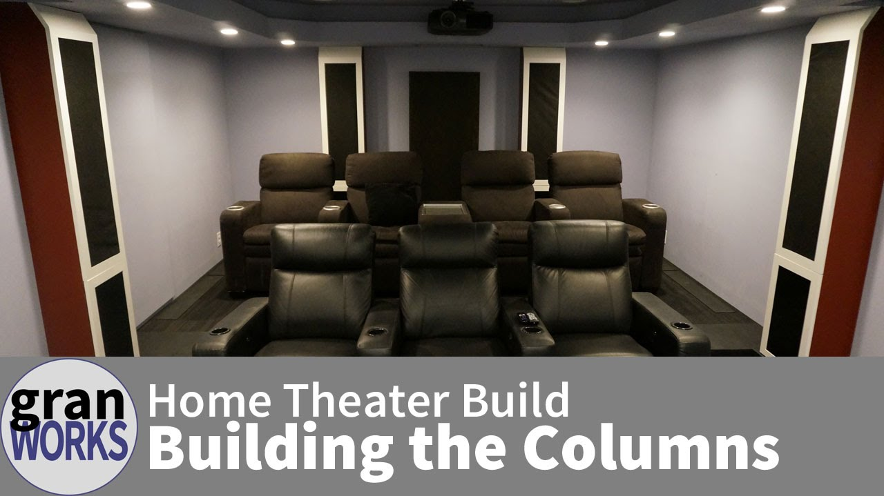 Building Home Theater Columns Youtube