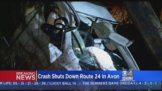 Crash Splits Car in Half, Part Of Route 24 Shut Down In Avon