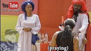 Imo and Maggi during one of their spiritual work (Okwu na Uka Episode 7) - Chief Imo Comedy