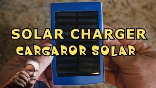 SOLAR CHARGER - CARGADOR SOLAR