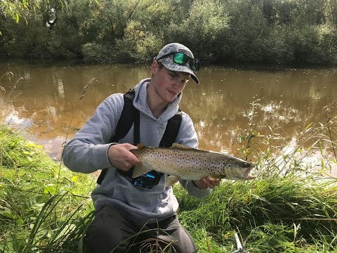 Soft Plastic Fishing In Chocolate Coloured Water For Brown Trout.