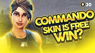 Commando skin is free wins? - Fortnite Battle Royale Gameplay
