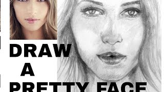 how to draw a pretty girl