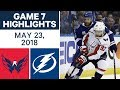 NHL Highlights | Capitals vs. Lightning, Game 7 - May 23, 2018
