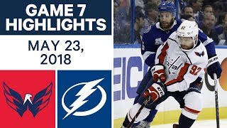 Andre Burakovsky scored two goals and the Washington Capitals defeated the Tampa Bay Lightning in Game 7 to advance to the Stanley Cup Final.