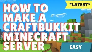 How to make a CraftBukkit Minecraft Server Easily (Premium/Non-premium) [HD]