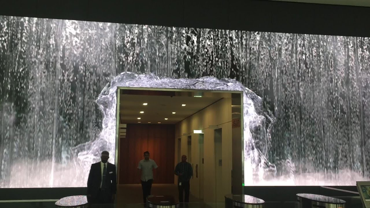 Desk Design Ideas Salesforce Unveils Amazing Lobby Video Wall Display At Sf