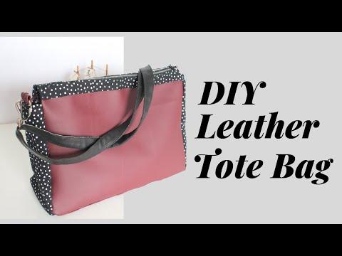✂ DIY Leather Tote Bag