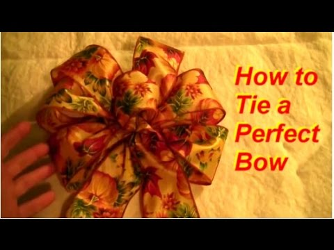 How To Tie A Perfect 6 Loop Bow Youtube
