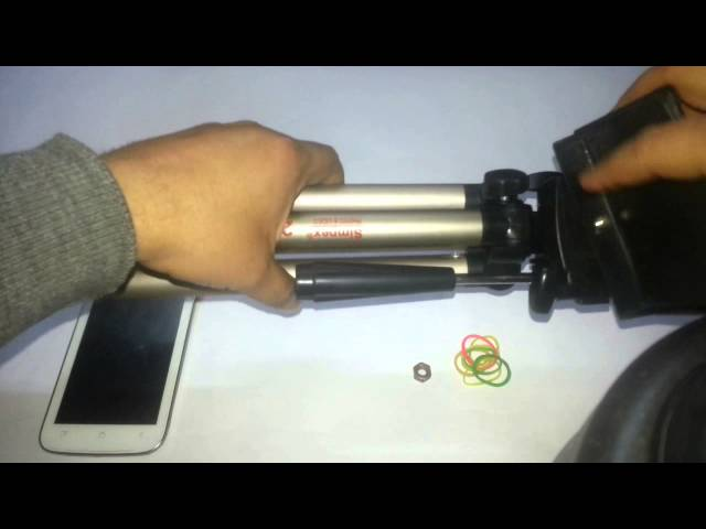How to fix your phone on tripod without spending anything in hindi