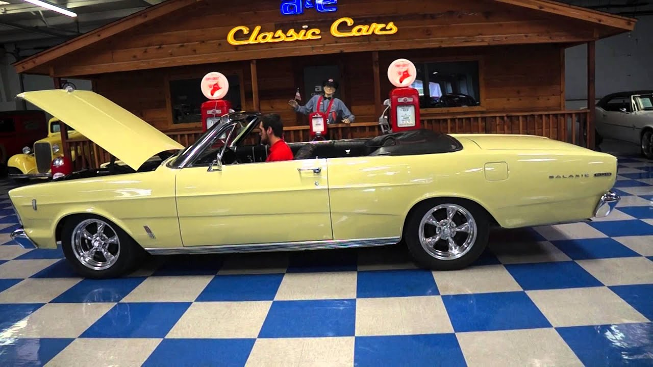 Ford Galaxie Convertible Yellow A E Classic Cars