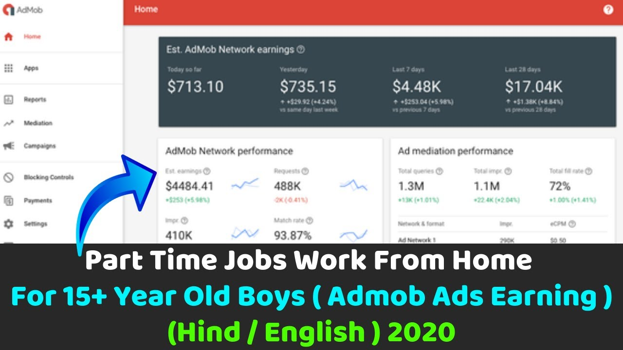 Part Time Job Work From Home For 15 Year Old Boys Make Money Online How To Make Money Online Youtube