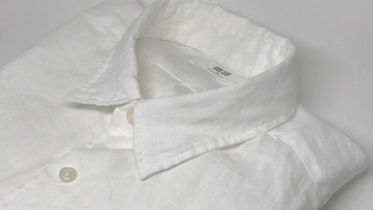 a65dc443916 Uniqlo Men Premium Linen Long Sleeve Shirt White 4K  - YouTube
