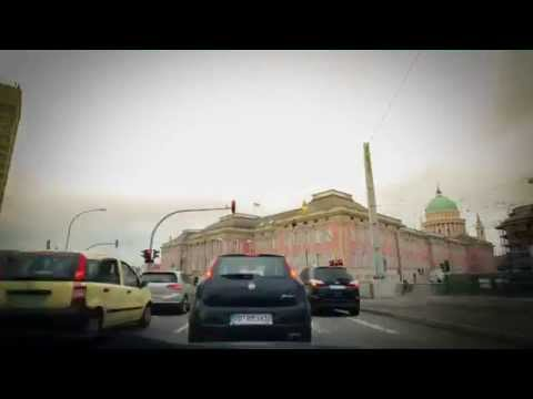 casual driving timelapse through Potsdam to Brieselang