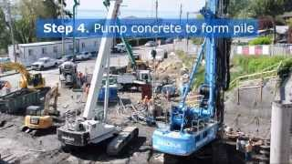 How secant piles control groundwater - Murray Combined Sewer Overflow Control project