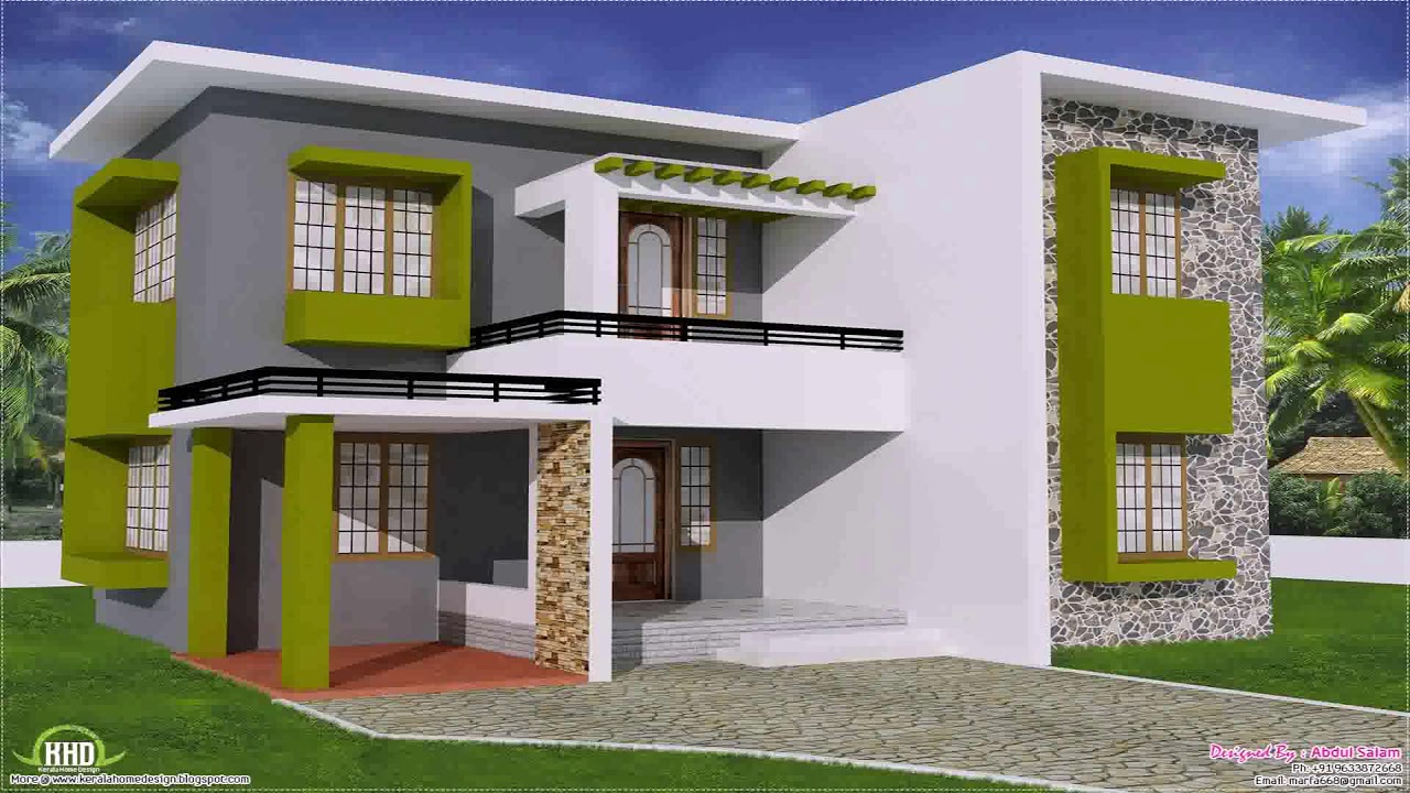 Small house plan north indian style youtube for Small house design indian style