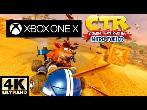Crash Team Racing Nitro Fueled Xbox One X 4K Gameplay
