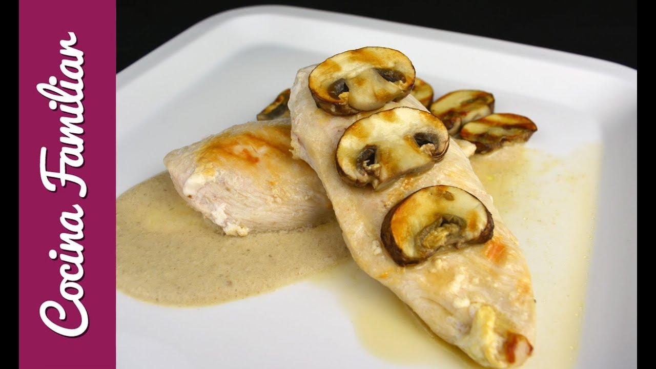pollo con champinones al horno dieta