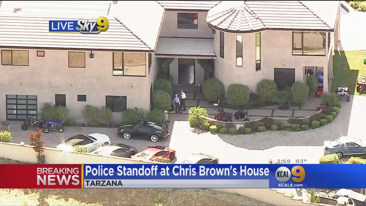 police swarm chris brown's home after woman reports assault - youtube