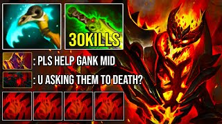 tHE INSANELY OVERPOWERED Build Amazing 30Kills Shadow Fiend Raze God 7.25 Dota 2