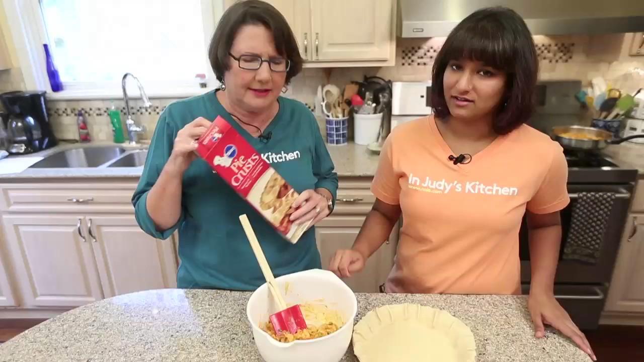 making crawfish pie in judys kitchen video - Judys Kitchen 2