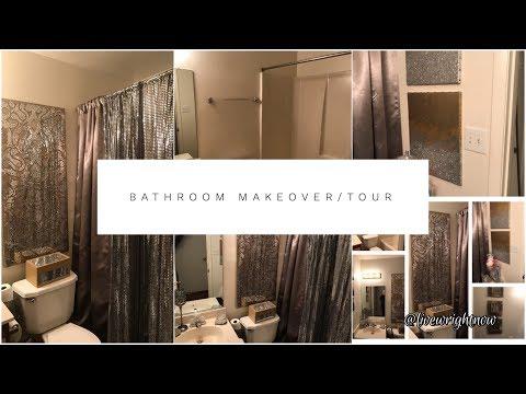 DIY: Glam Apartment Bathroom Tour| Decorating Ideas